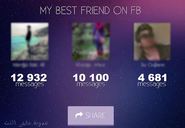 تعرف على أفضل 3 أصدقاء في حسابك على الفيسبوك