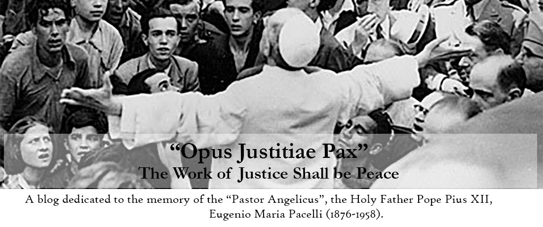 """""""Opus Justitiae Pax"""" - The Work of Justice Shall be Peace"""