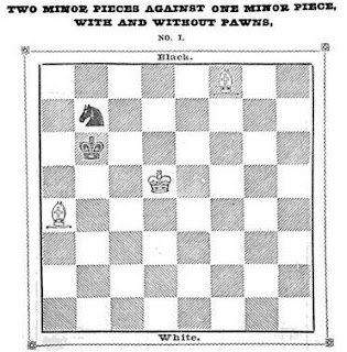 "Uno de los finales del libro ""Chess Studies or Ending of Games"""