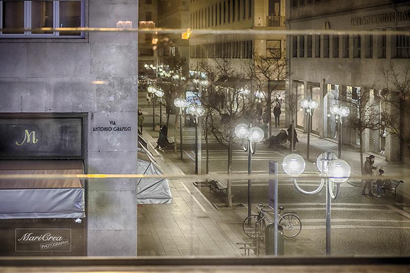Torino di notte dal Teatro Vittoria