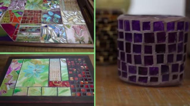 Curso Mosaico com Vidros Pintados à Mão