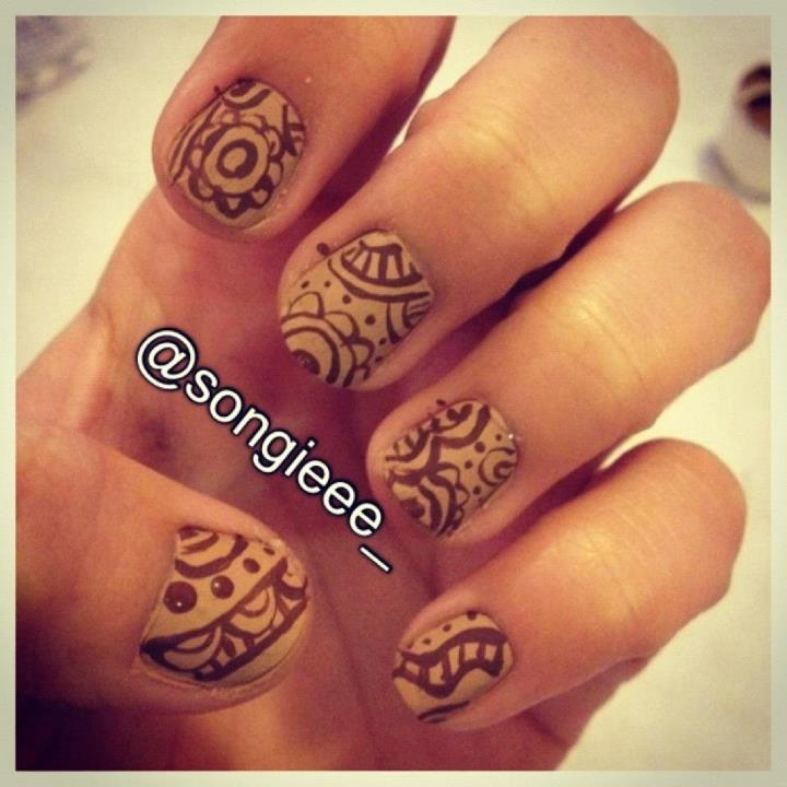 Mehndi Designs For Nails : Henna nail designs imgkid the image kid has it