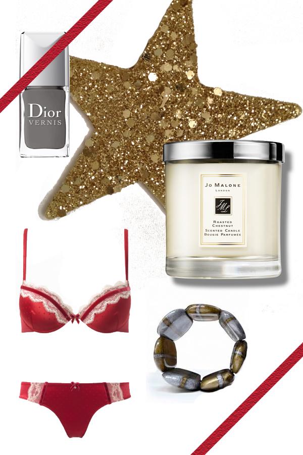 Dior Vernis, Jo Malone candle, Underwear Intimissimi, Donatella Pellini bracelet