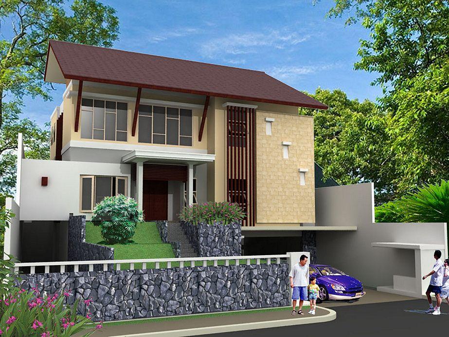 gambar rumah tropis modern 2 lantai terbaru