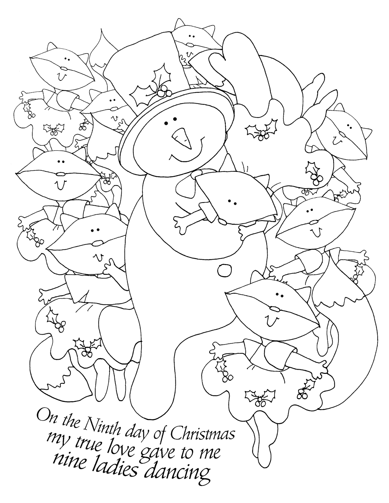 Free Dearie Dolls Digi Stamps: The Ninth Day of Christmas