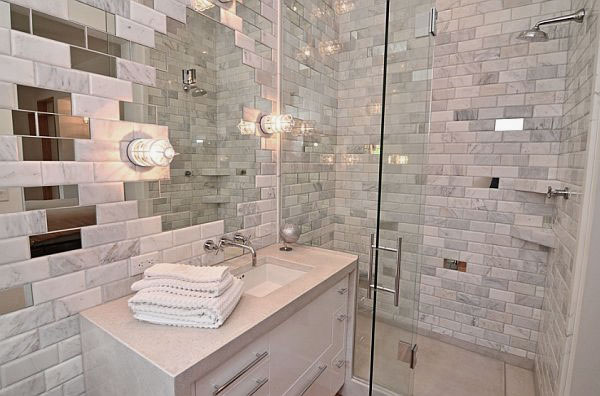 Exciting Texture To Adorn Your Home Decor Images. Luxurious Marble Tiles In  The Bathroom Design Ideas