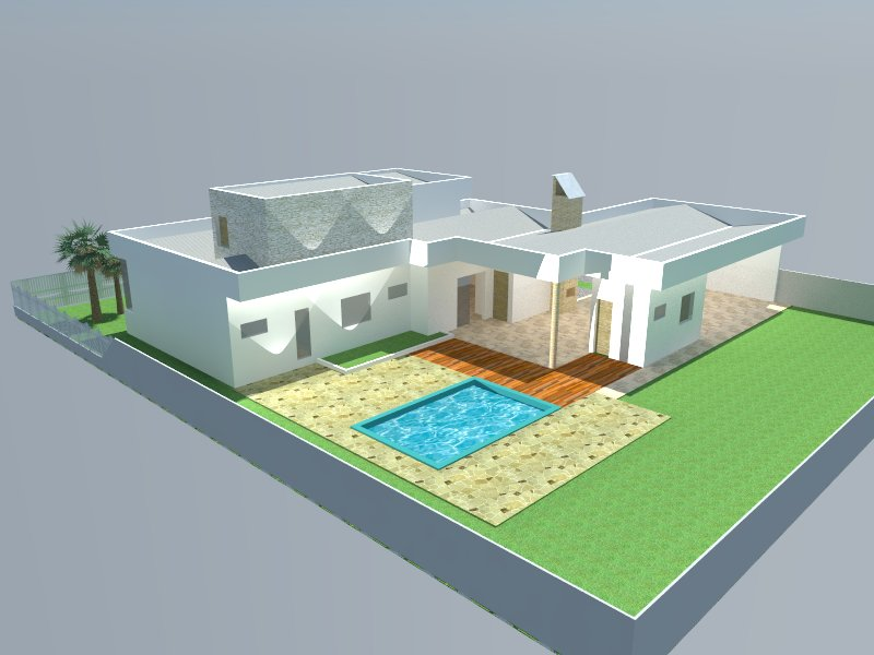 Fundos casa 3D.