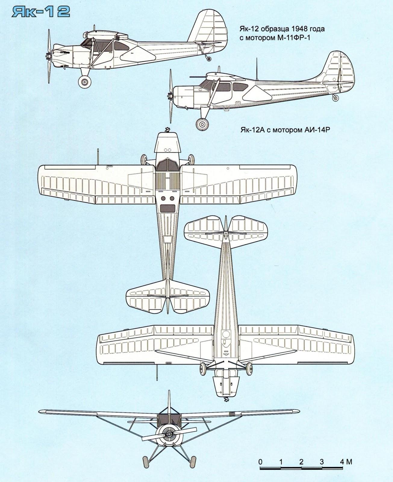 характеристики истребителя Як 12