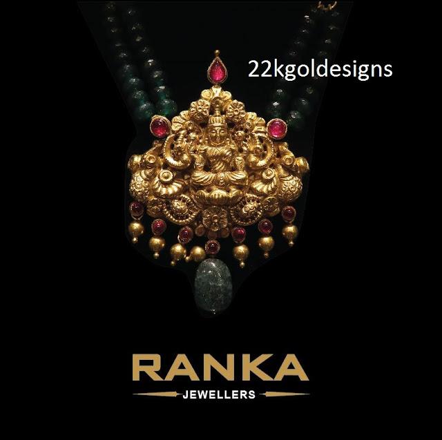 Precious Lakshmi Devi Pendant 22kgolddesigns