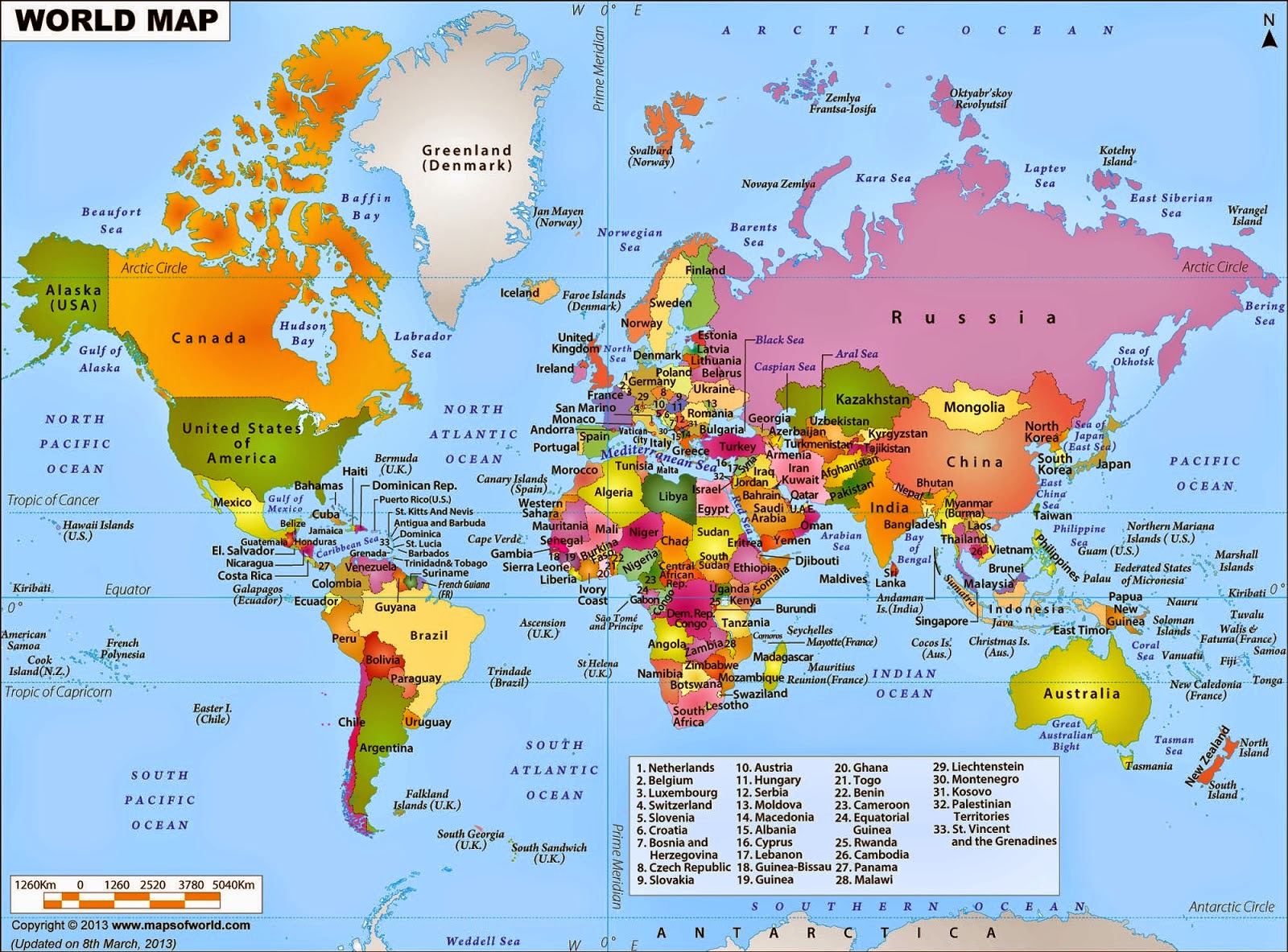 Seputar Ilmu Sosial Peta Dunia