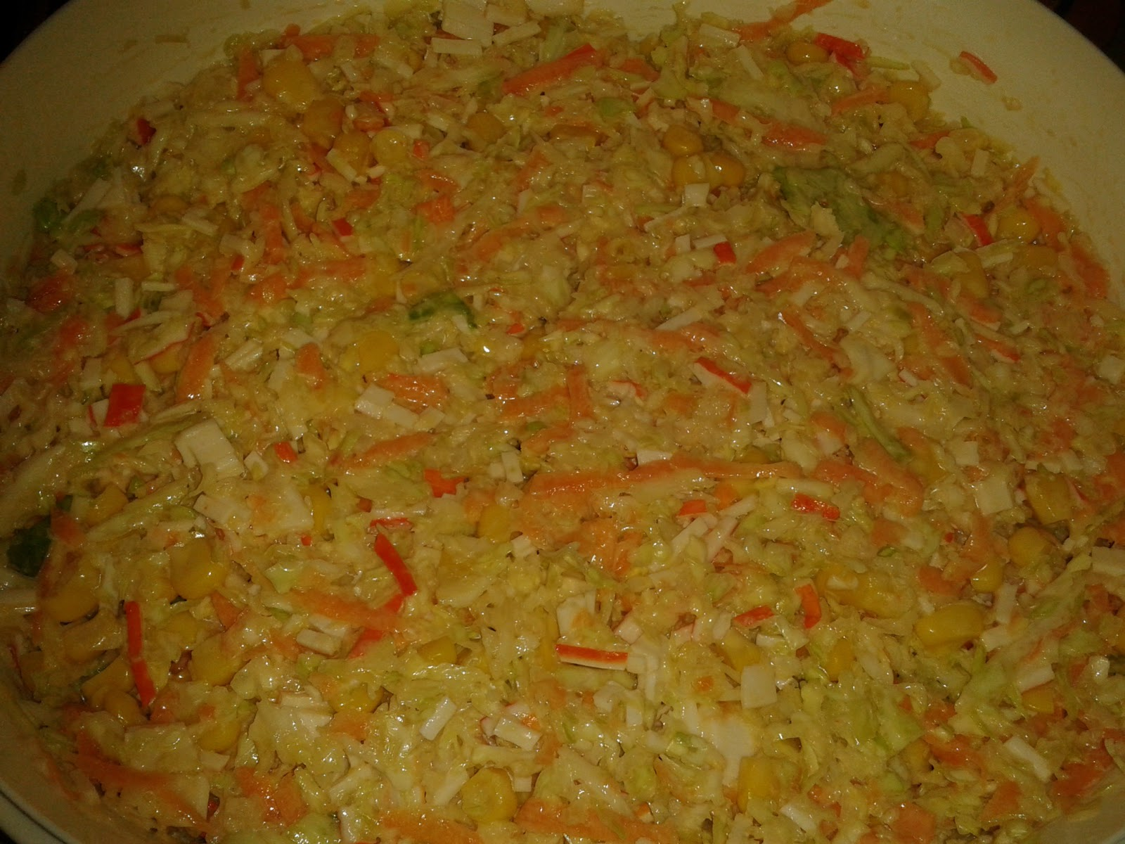 Cocina y viaje con carmen ensalada de col y palitos surimi - Cocina con carmen ...