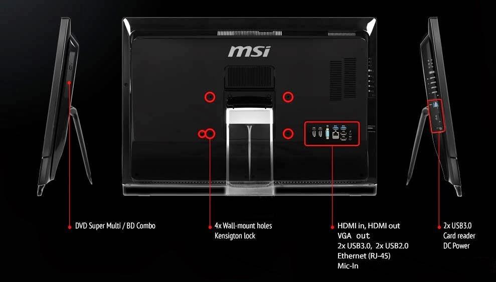общее описание моноблока MSI Wind Top AG2712