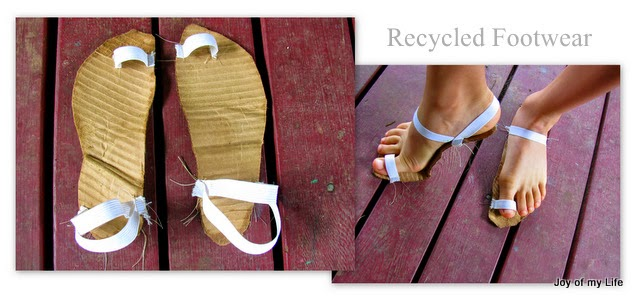 recycled cardboard footwear sandals kids crafts