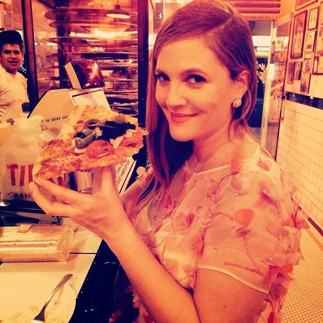 Drew Barrymore tiene ganas de comer pizza luego de los Globos de Oro