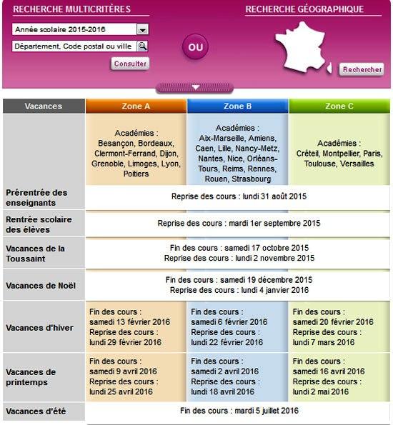 http://www.education.gouv.fr/pid25058/le-calendrier-scolaire.html#resultat
