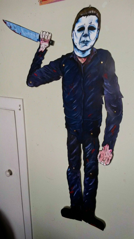 get your michael myers horror hanger halloween decoration halloween daily news - Michael Myers Halloween Decorations