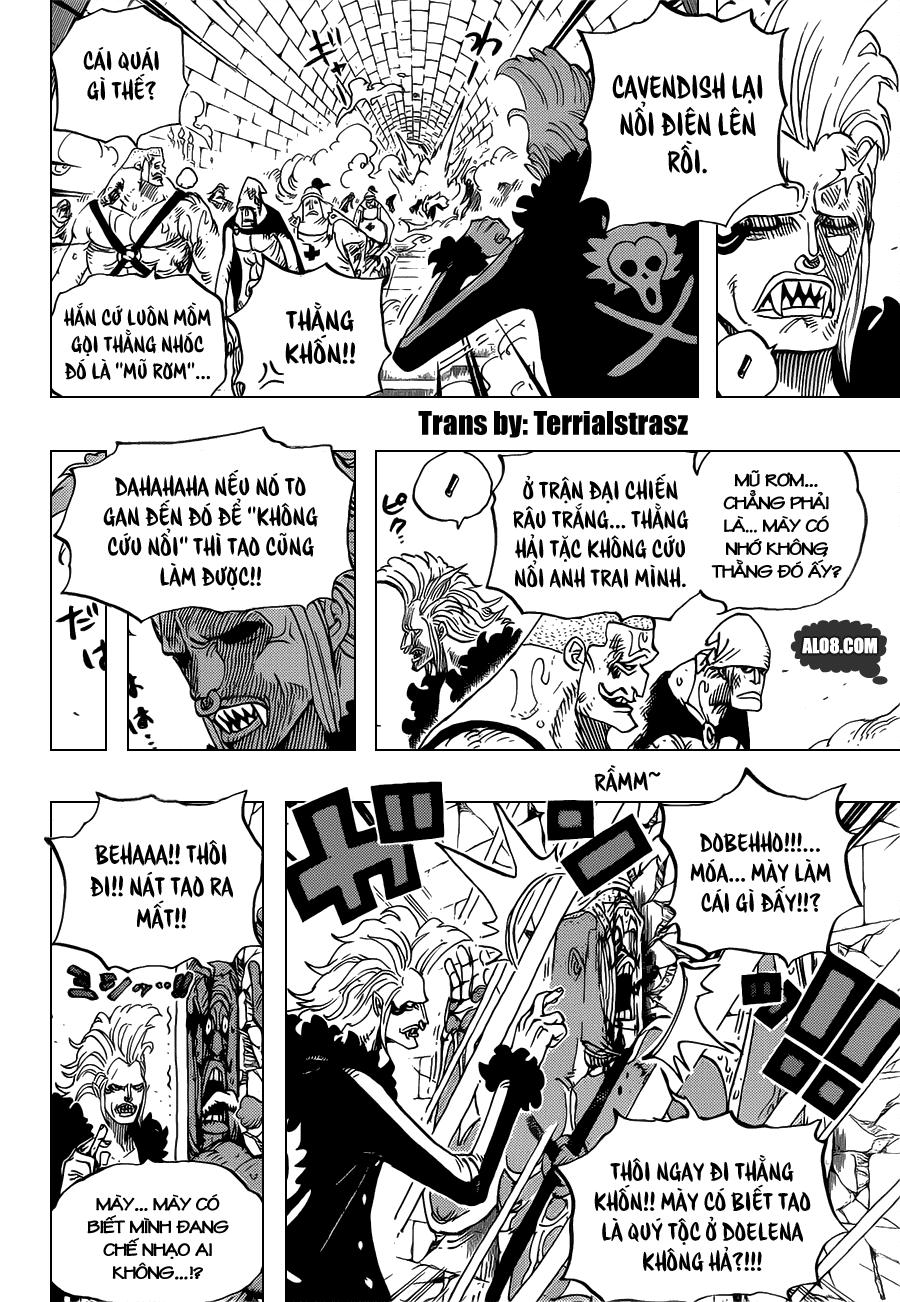 One Piece Chapter 720: Những đấu sĩ tù nhân  004