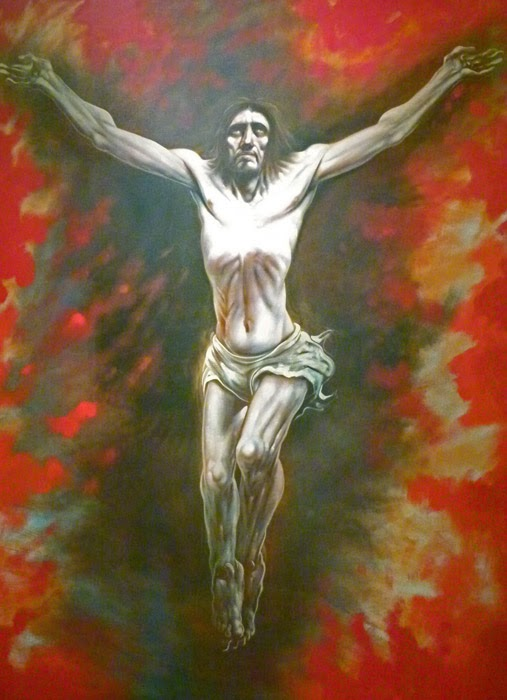 Jesus Crucifixtion, St Mungos, Peter Howson artist, Scottish