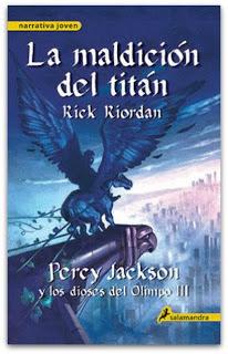 Percy Jackson y la maldición del titán de Rick Riordan