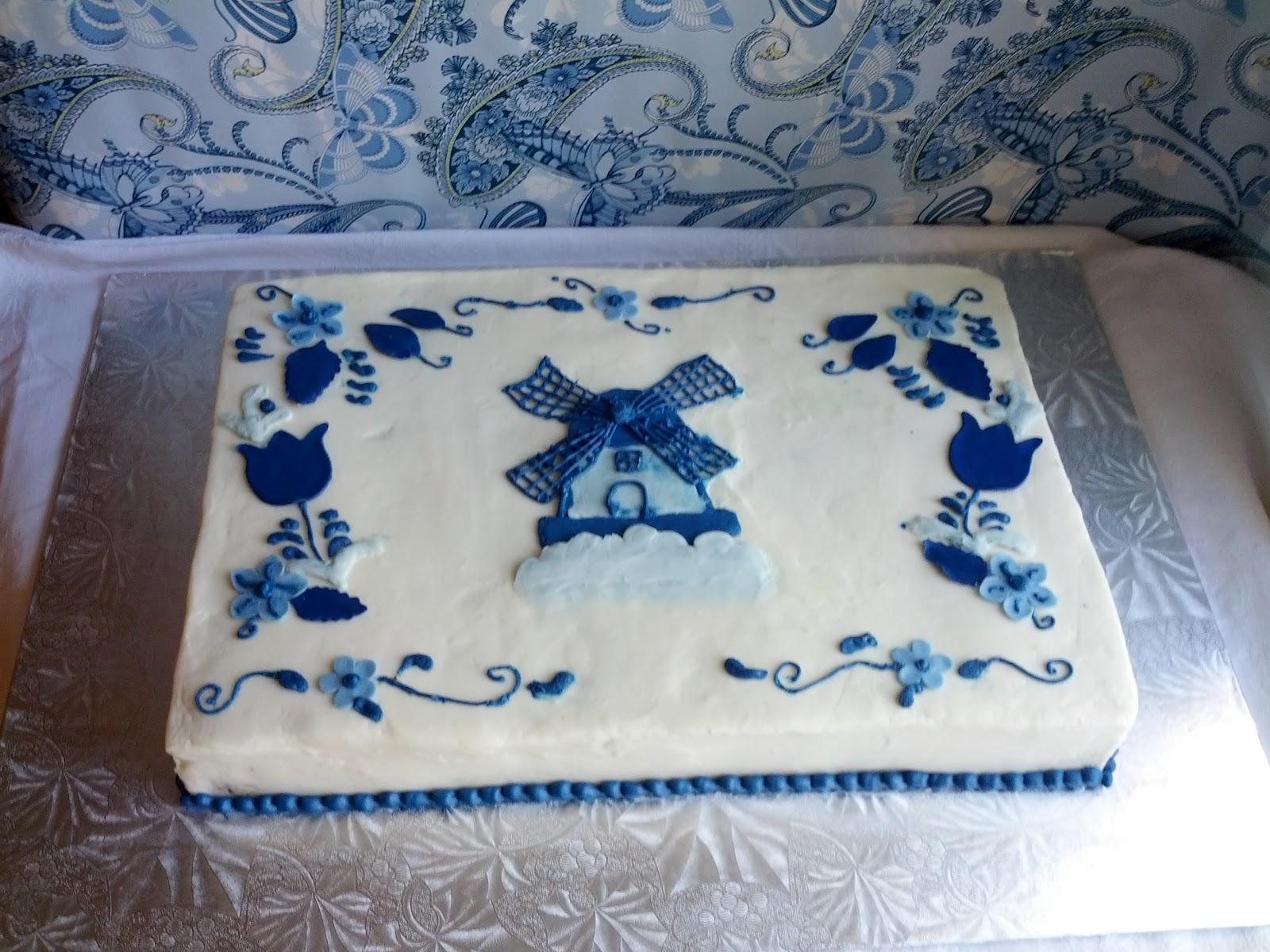 Second Generation Cake Design Delft Blue Dutch Birthday Cake