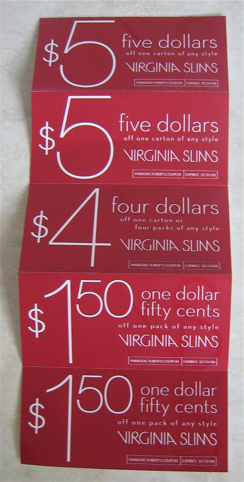 Virginia slims coupons free