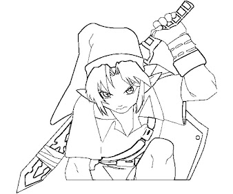 #5 Link Coloring Page