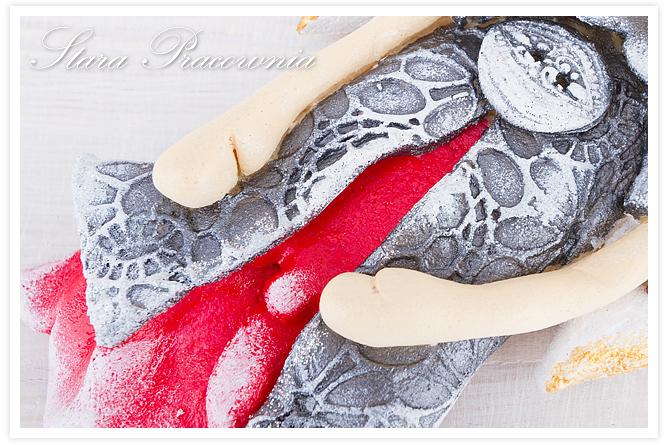 ozdoby figurki z masy solnej, salt dough, salt dough angel