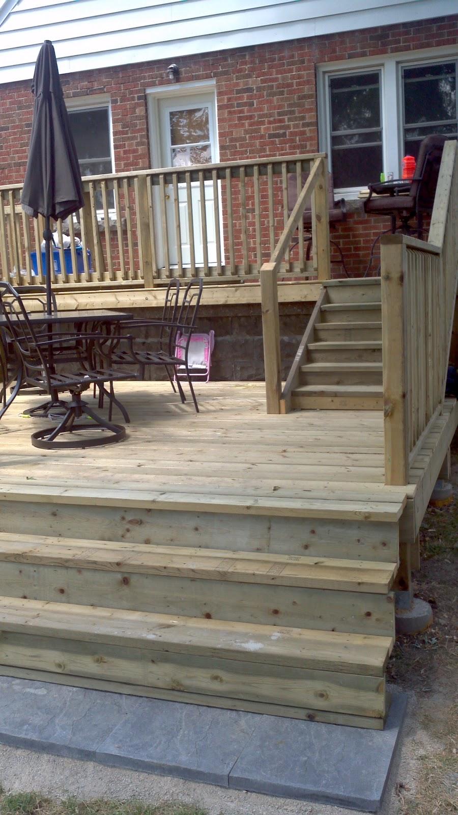 Tiered Backyard Decks : Board and Beyond Home Improvements TwoTier Backyard Deck
