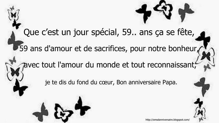 Sms D Anniversaire Pour 59 Ans