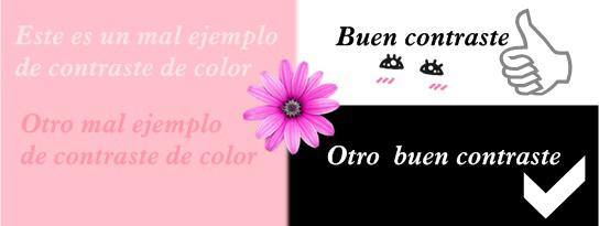 buen contraste de las letras en tu blog de belleza
