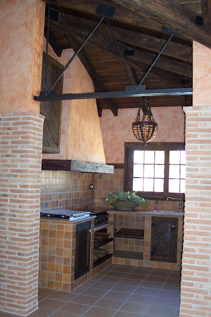 Studio brotons design cocina de la barbacoa - Ladrillo visto rustico ...