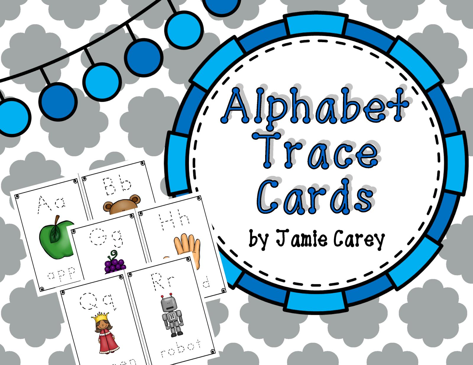 http://www.teacherspayteachers.com/Product/Alphabet-Trace-Cards-1371026