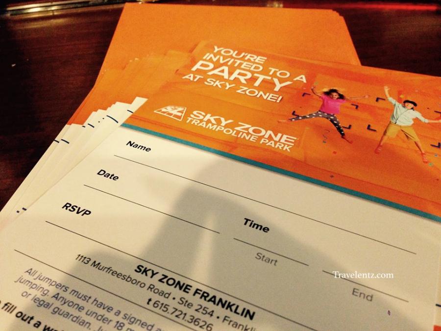 Celebrating 6th birthday party at Sky ZoneFranklin Tn Travelentz