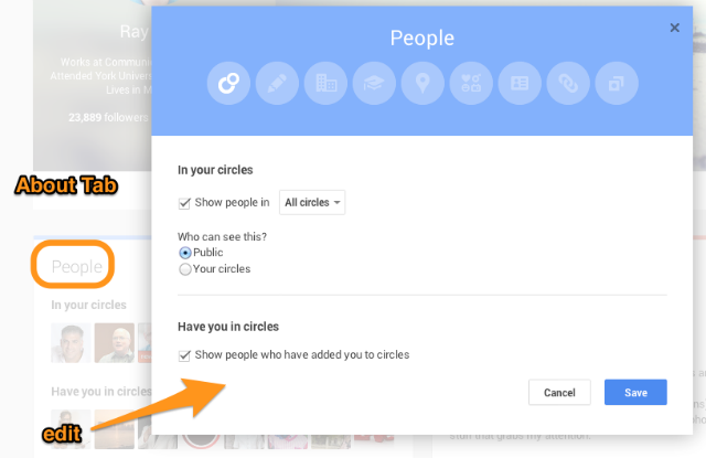 Google Plus About Card  edit