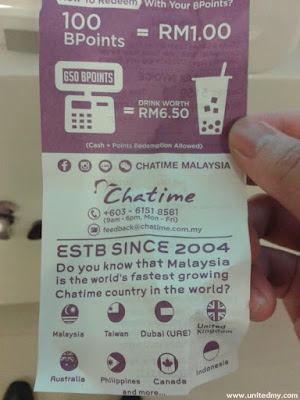 Chatime in Malaysia since 2003