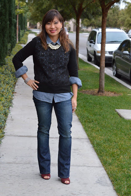 Chambray and Denim, layering