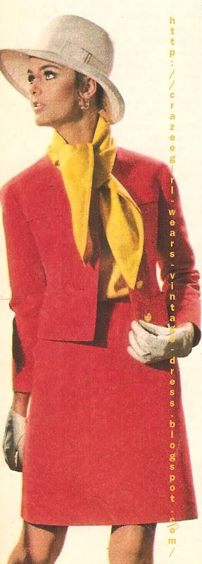 Nina Ricci skirt suit 1967 60s 1960