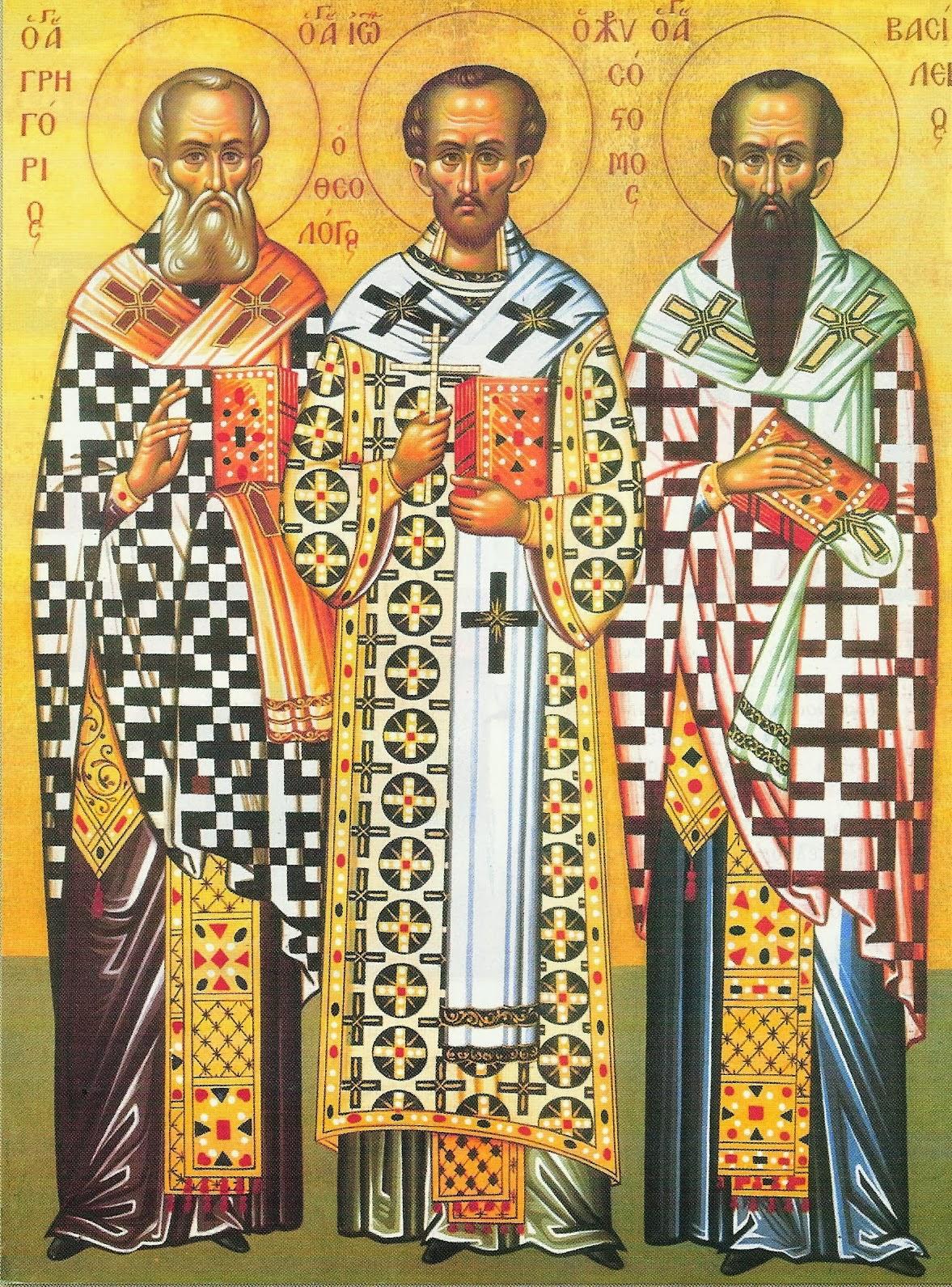Οι Άγιοι 3 Ιεράρχες: Γρηγόριος-Ιωάννης-Βασίλειος