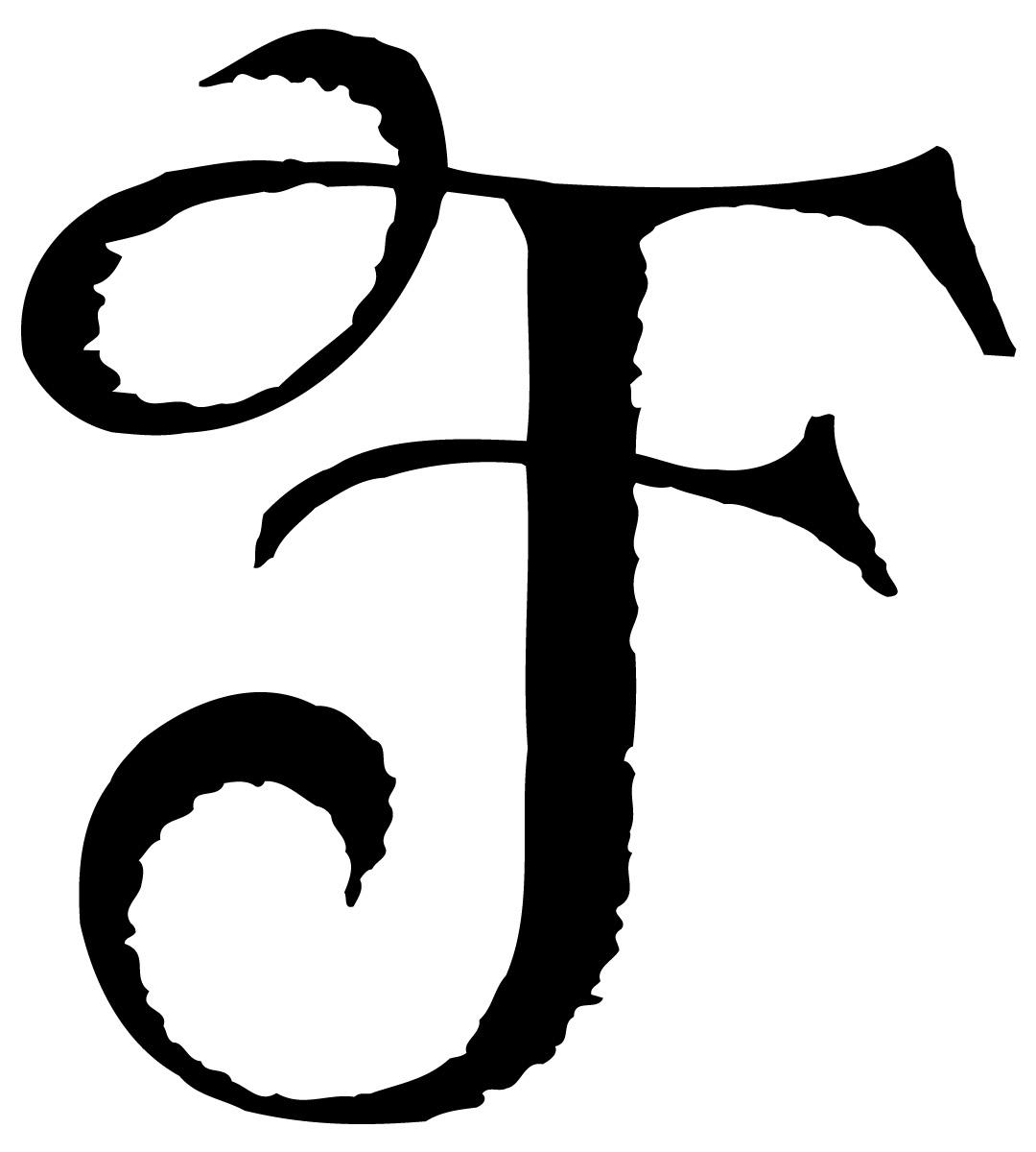 Fancy Letter f Font Fancy Letter f