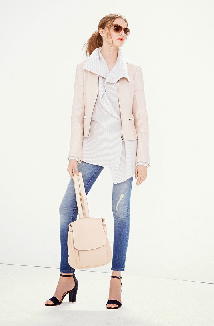 Keep It Cool With Pink Moto Style Outerwear