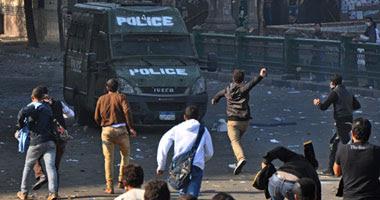 اشتباكات بين الأمن والمتظاهرين فى محيط السفارة الأمريكية