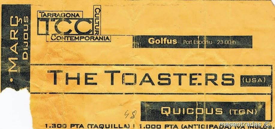 entrada de concierto de the toasters