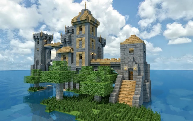Island castle build idea epic inspiration building