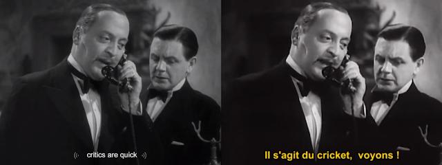 Zwei Screenshots ein- und derselben Einstellung, links: critics are quick (rechts übersetzt im Unterititel)