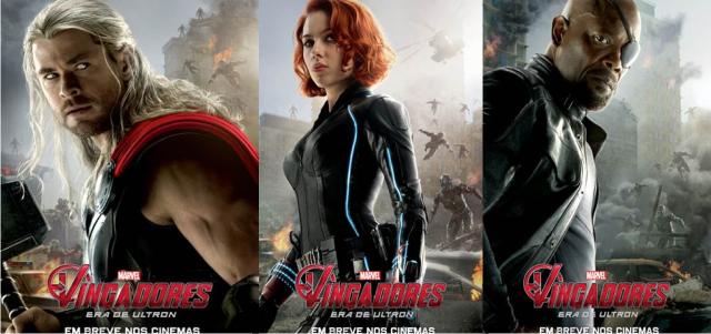 Thor, Viúva Negra, Nick Fury e Hulk ganham seus pôsteres de Vingadores: Era de Ultron
