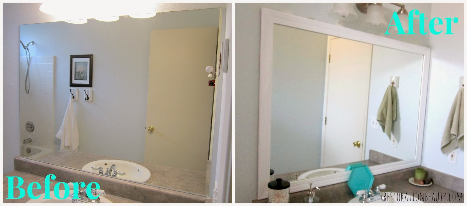 Restoration Beauty 11 Framed Builder Grade Bathroom Mirror