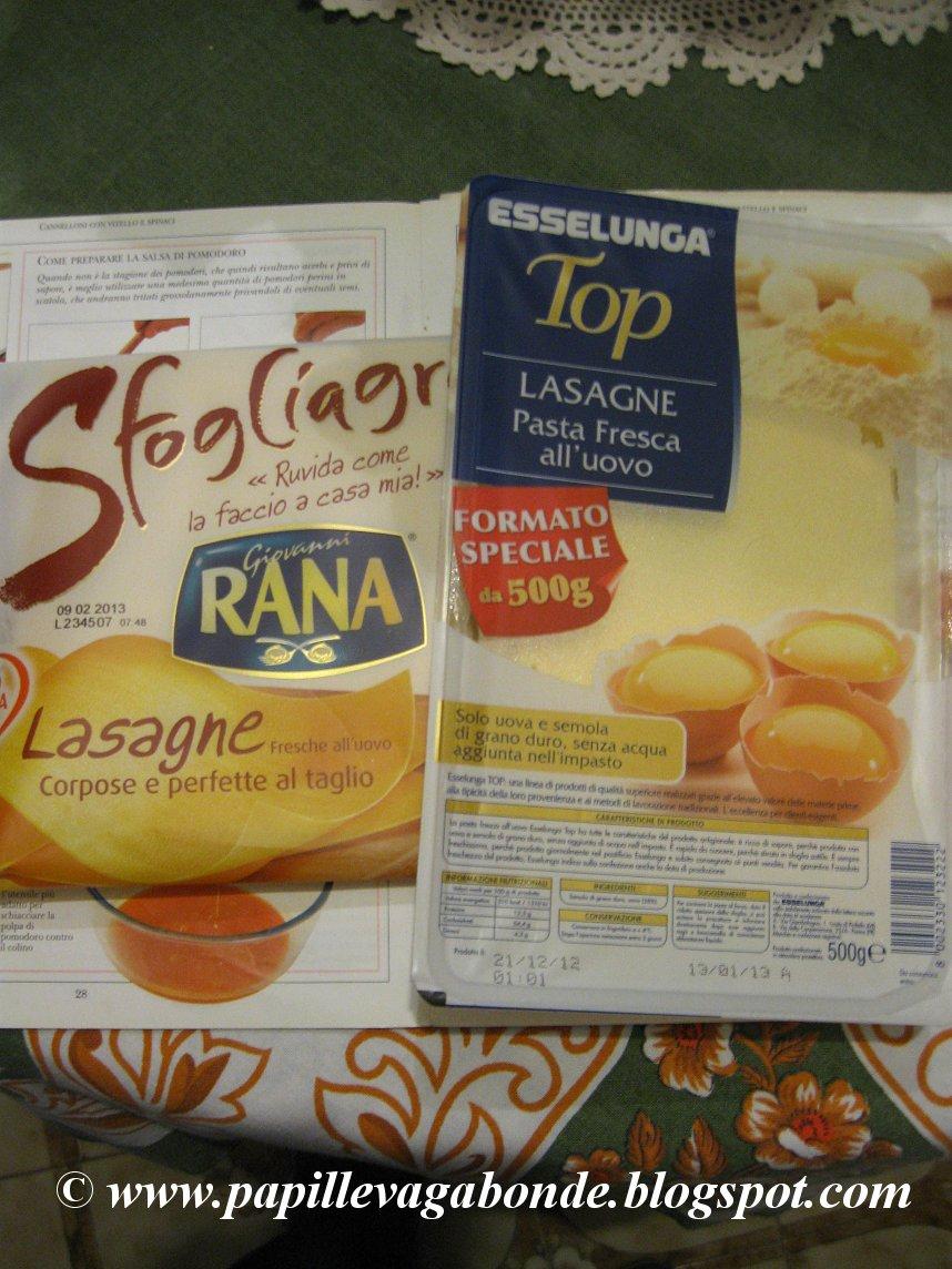 Ricetta per la pasta di lasagne