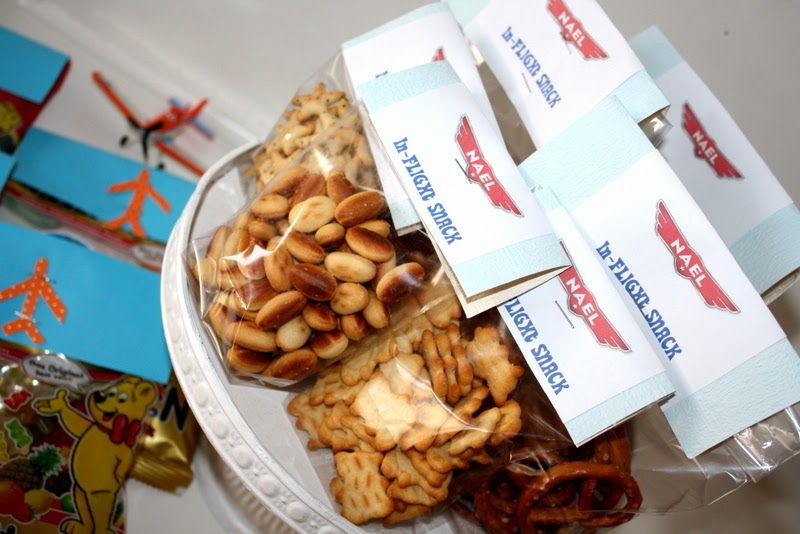 pretzel and snacks in packets for give aways
