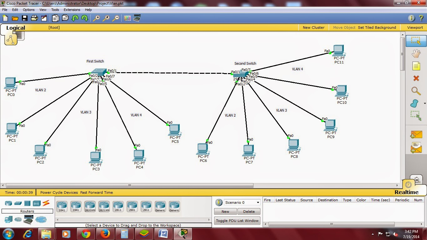 how to create vlan in switch