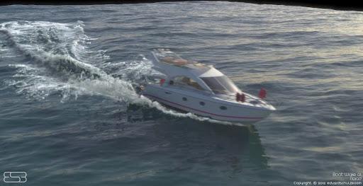 Naiad test: Boat Wake 01